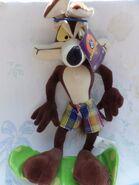 Rare Wile e Coyote plush Plush 18 Wiley Coyote with Looney Tunes Tags EUC