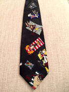 Vintage Looney Tune Mania Necktie Warner Brothers Black Novelty Tie Looney Tune Character Necktie