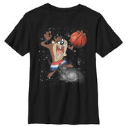 Looney Tunes Taz Basketball Space Boys Graphic T Shirt - Fifth Sun