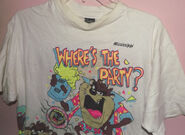 1990 Looney Toons Where's the Party Taz T-Shirt Sherry's Best (Front)