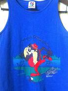 1990s Tasmanian Devil fishing tank top 90s Warner Brothers Looney Tunes tank