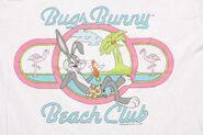 Vintage Bugs Bunny Beach Club Long T-Shirt 1988 80's Looney Tunes surf cartoon