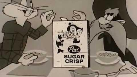 Sugar Crisp Commercial Featuring Bugs Bunny and Yosemite Sam
