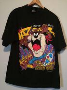 Vintage 1989 Taz dj t shirt black mens large loony tunes