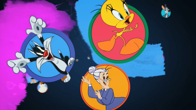 File:Sylvester, Tweety, and Granny.png