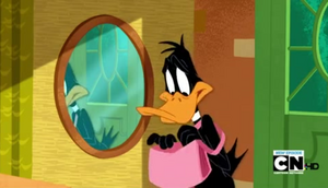 Daffy with his handbag