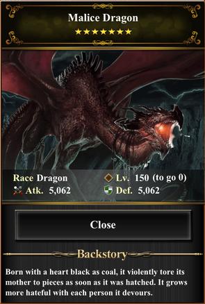 Card - Malice Dragon
