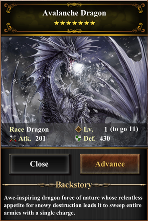 Card - Avalanche Dragon