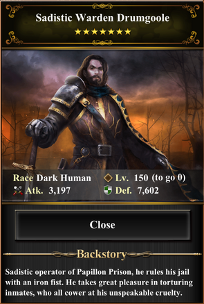 Card - Sadistic Warden Drumgoole-max