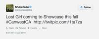 Lost Girl Showcase (2010 tweet)
