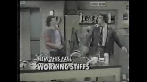 """CBS Promo for """"Working Stiffs,"""" 1979"""