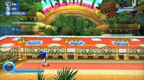 Sonic Colors Gameplay - Tropical Resort Wii