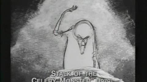 """Tim Burton's early short """"stalk of the celery monster"""""""