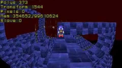 Sonic X-Treme Running on SSF Sega Saturn Emulator.
