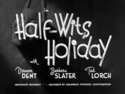 Half Wits Holiday Title Card