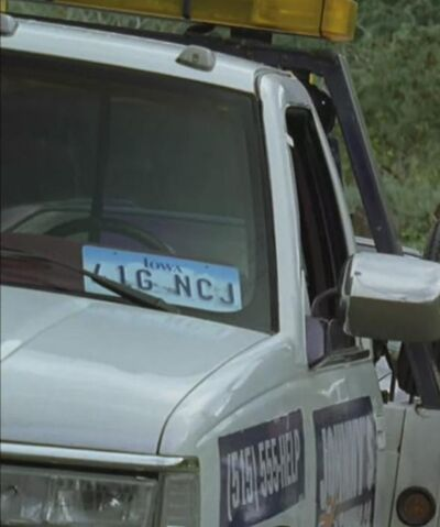 File:Johnny's Tow Truck License Plate.JPG