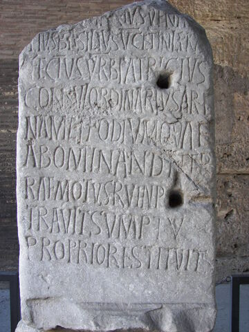 File:Rome Colosseum inscription 2.jpg