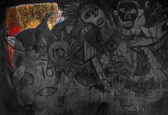Archivo:Mural - colony with leader.jpg
