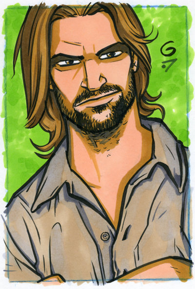 LOST Sawyer 4x6 Commission by grantgoboom