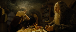 Gandalf telling Frodo bout the Ring