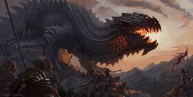 Lord of the rings glaurung by vaejoun-d71q48f