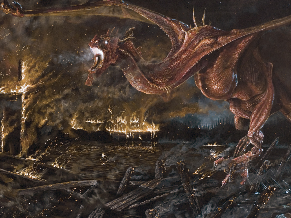 image closeup smaug by charles burggrafjpg the one