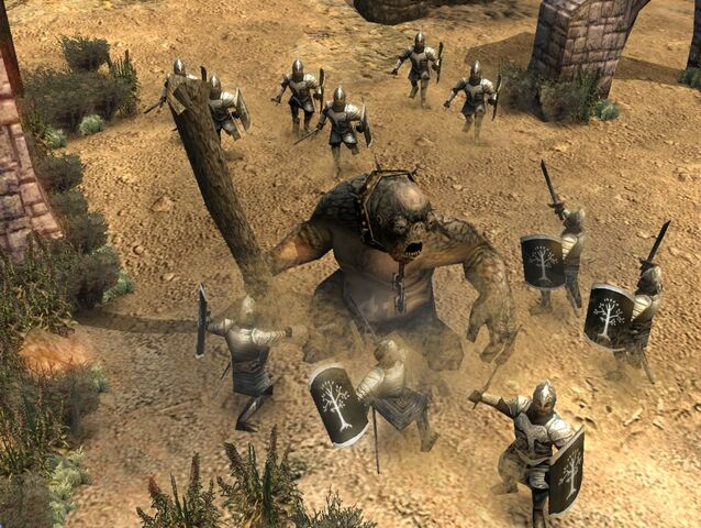 File:Cave troll vs gondor soldiers.jpg