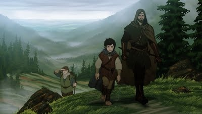 File:Aragorn and the Hobbits.jpg