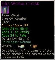 Fire-Worm Cloak