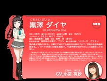 Sunshine!! character intro - Kurosawa Dia