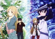 Asuna & Kirito (Sword Art Online Ordinal Scale) Pic (5)