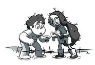 Steven Universe Steven and Connie find a turtle