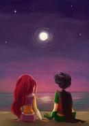 Teen Titans Robin and Starfire 404611500