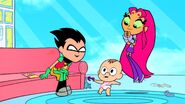 Teen Titans Go! Robin and Starfire Little Baby Cupid of love