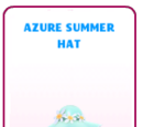 Azure Summer Hat