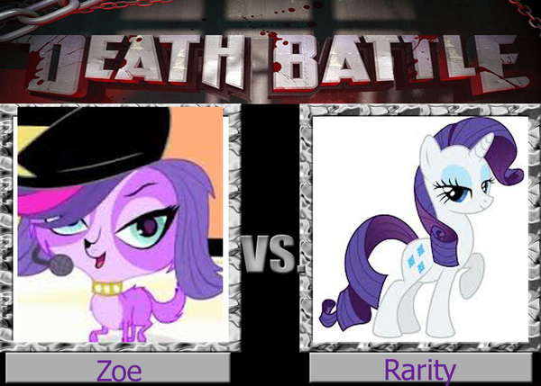 Zoe and rarity death battle by winged maned wolf-d5scngt
