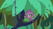 Purple Monkey want banana