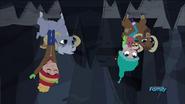 Goats walking upside down