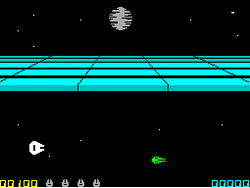 ZX Spectrum Return of the Jedi Death Star Battle screenshot