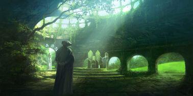 2000x1000 169 Ruins of Doriath 2d fantasy magic ruins picture image digital art