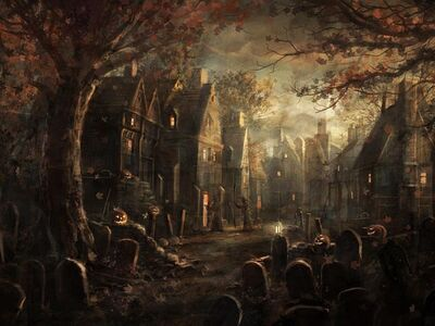 Halloween-village