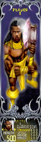 Gauntlet Dark Legacy - Yellow Warrior (Player 1)