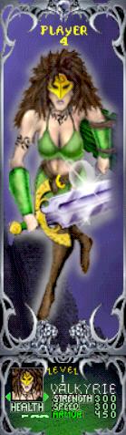 Gauntlet Dark Legacy - Green Valkyrie (Player 4)