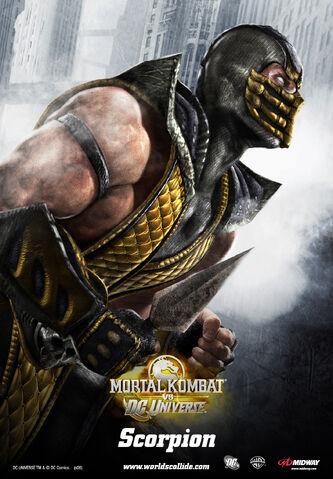 File:Mortal Kombat vs. DC Universe - Posters - Mortal Kombat Characters - Scorpion.jpg
