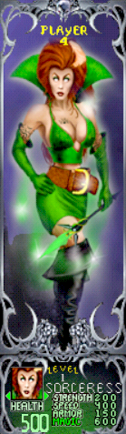 Gauntlet Dark Legacy - Green Sorceress (Player 4)