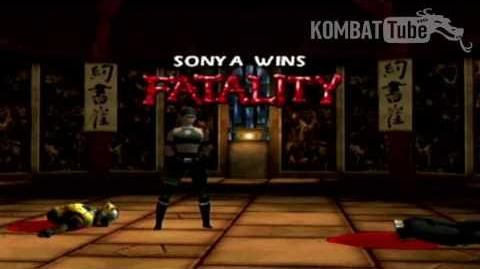 "Mortal Kombat 4 & Mortal Kombat Gold - Fatalities - Sonya Blade - ""Splits"""