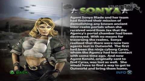 Mortal Kombat Deadly Alliance - Biographies - Sonya Blade