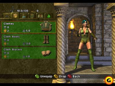 Baldur's Gate- Dark Alliance - Adrianna's Inventory