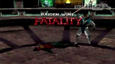 """Mortal Kombat 4 Mortal Kombat Gold - Fatalities - Raiden - """"Staff"""""""