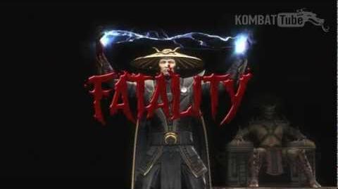 "Mortal Kombat (2011) - Fatalities - Raiden - ""Transplant"""